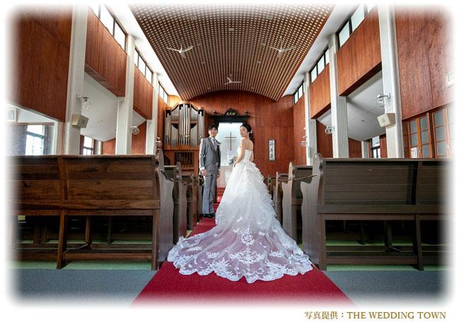 教会結婚式ウェディングフォト(前撮り写真)