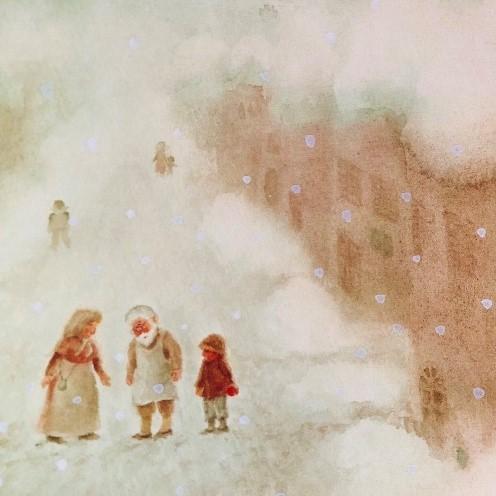 雪かきおじいさん